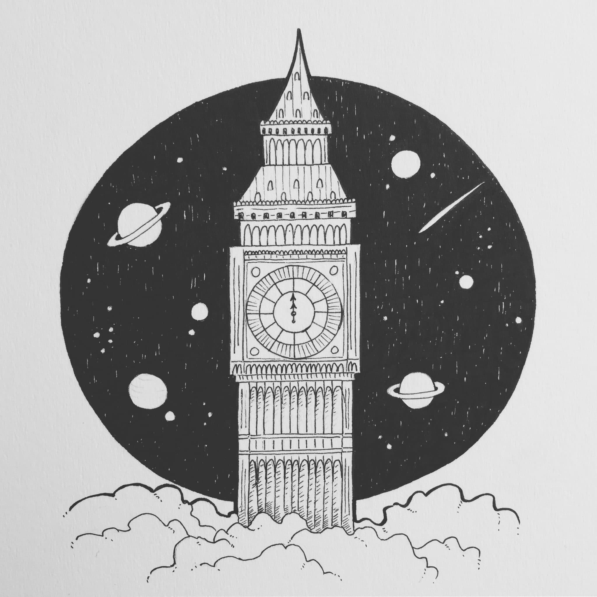 inktober2018-clock
